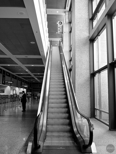 Single Escalator, Austin-Bergstrom Airport - Austin, Texas