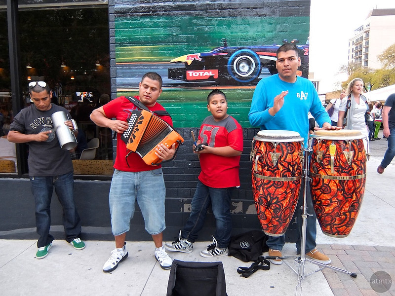 Street Performance,  Austin Fan Fest, Austin, Texas