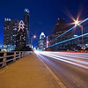 Congress Avenue Bridge Light Trails - Austin, Texas
