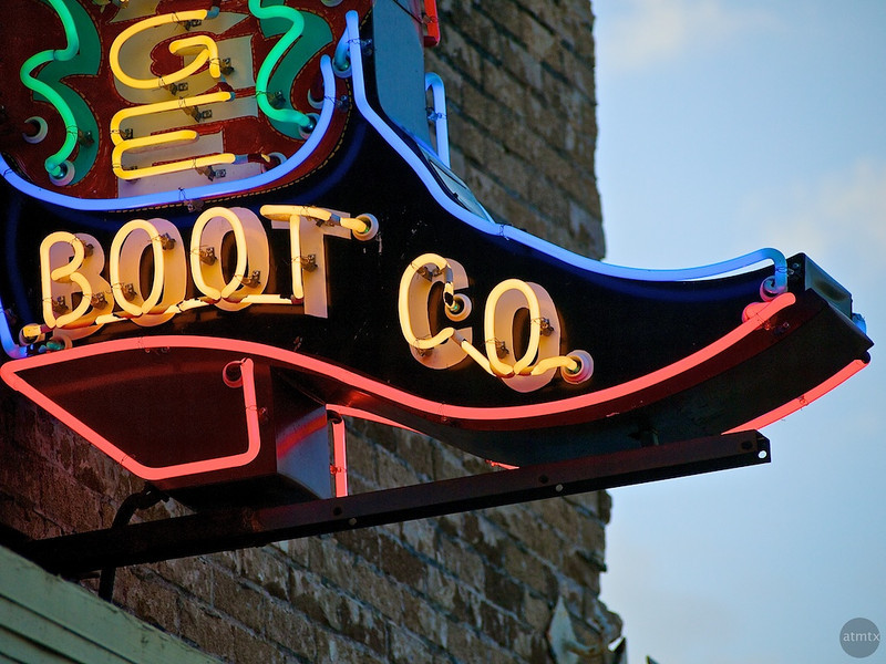 Heritage Boot Co. Neon Closeup #2, SoCo - Austin, Texas