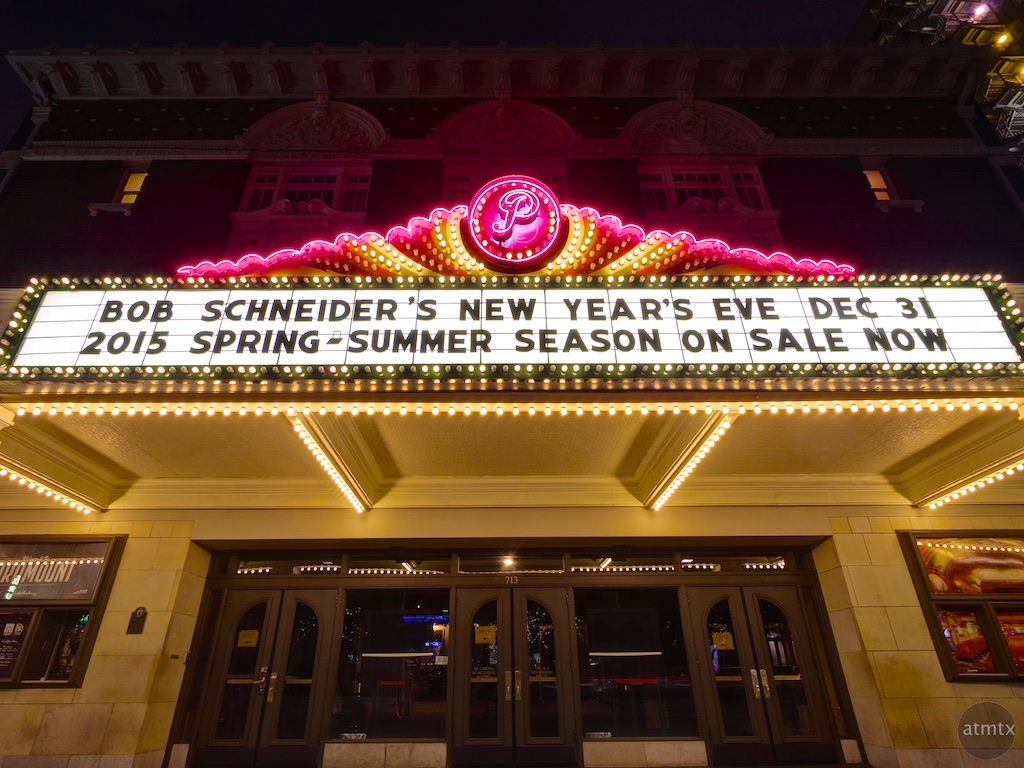 The Marquee before New Year's Eve, Paramount Theater - Austin, Texas