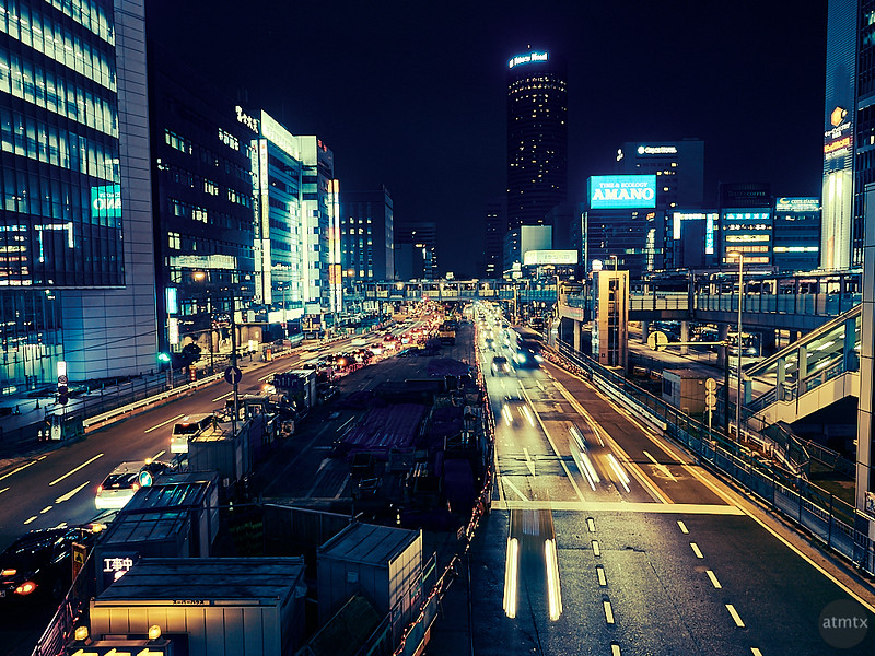 Highway Blur - Yokohama, Japan