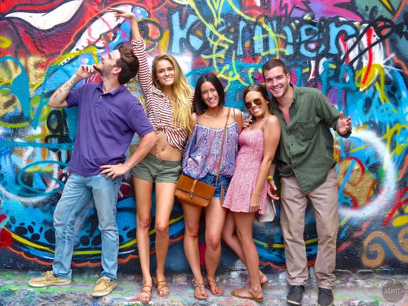 A group portrait at the Graffiti Park #1 - Austin, Texas