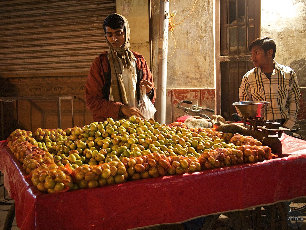 Late Night Fruit Stand - Delhi, India