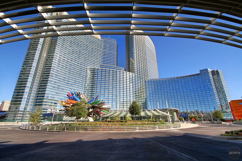 Aria Resort Viewed from Vdara, City Center - Las Vegas, Nevada