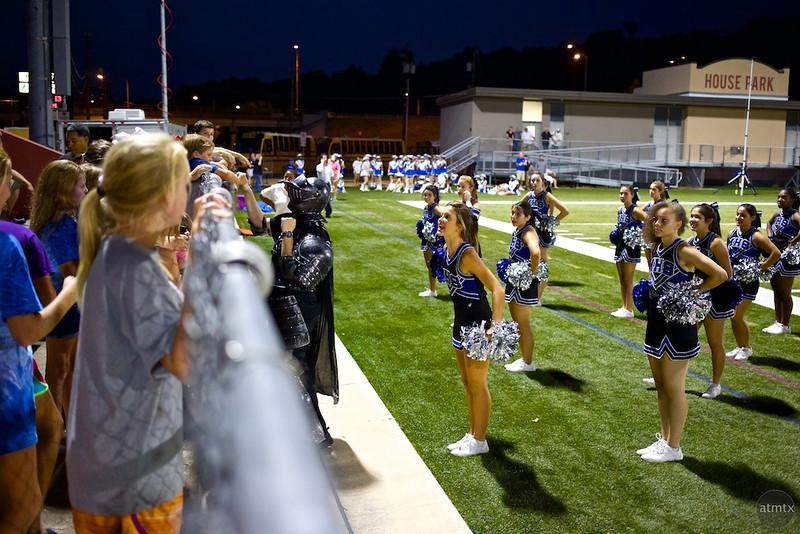 A Knight and Cheerleaders, McCallum vs. Anderson - Austin, Texas