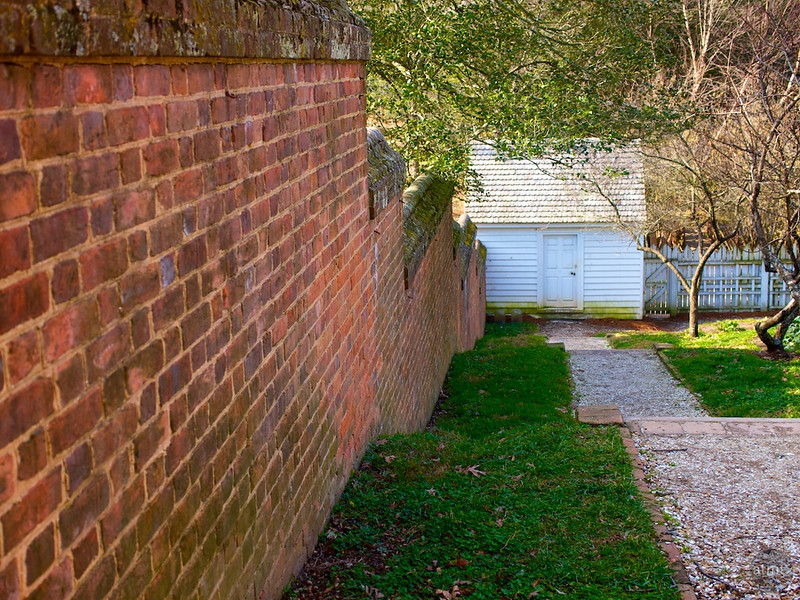 White Shed and Red Wall - Williamsburg, Virginia