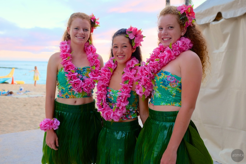 Hula Dancers, Behind the Scenes - Honolulu, Hawaii
