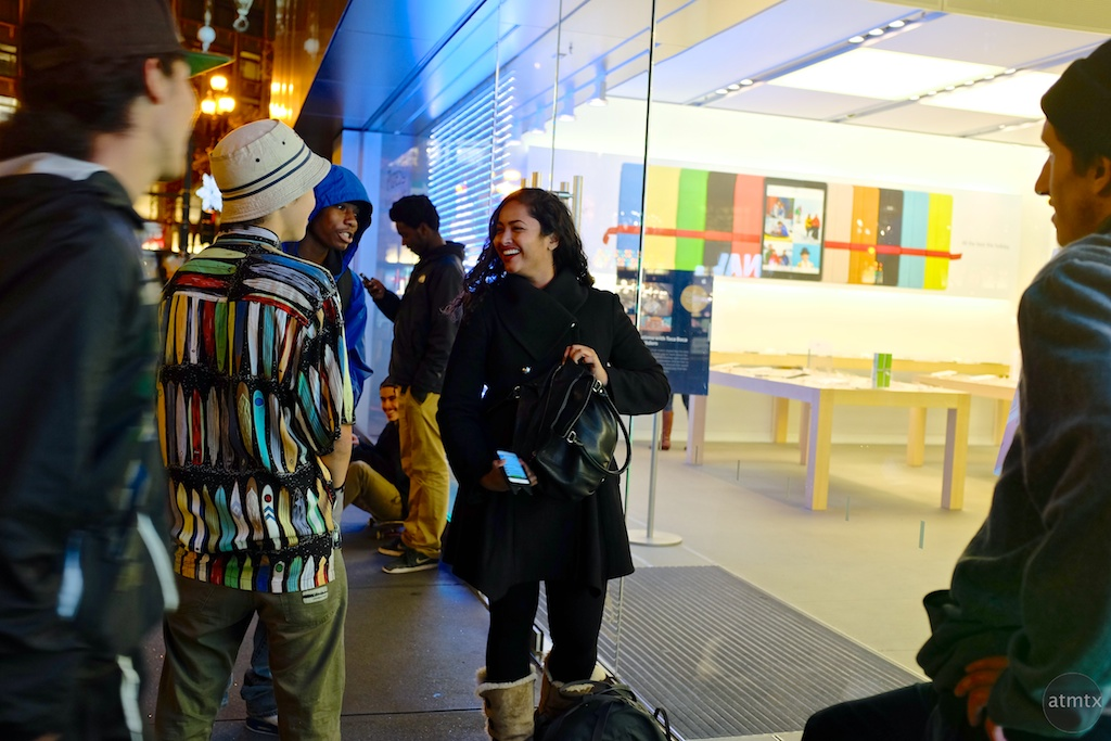 Light Banter in front of the Apple Store - San Francisco, California
