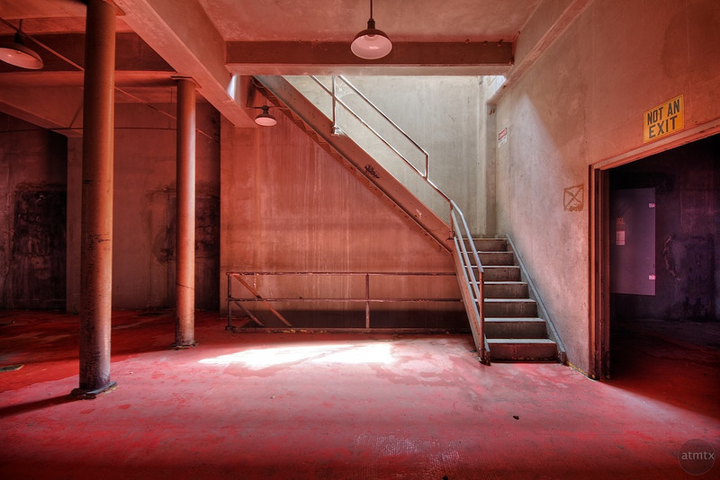 Seaholm Power Plant, Red Glow - Austin, Texas