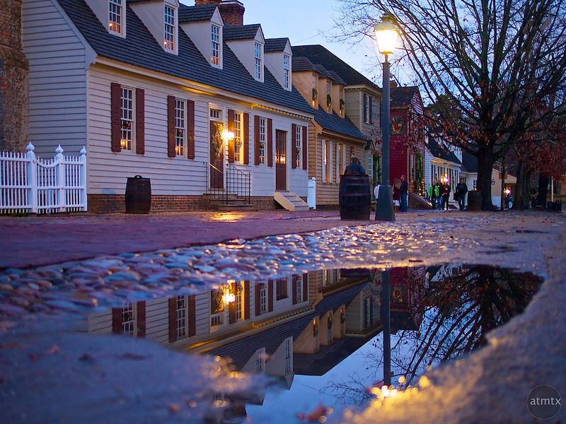 Reflection on Duke of Gloucester Street - Williamsburg, Virginia