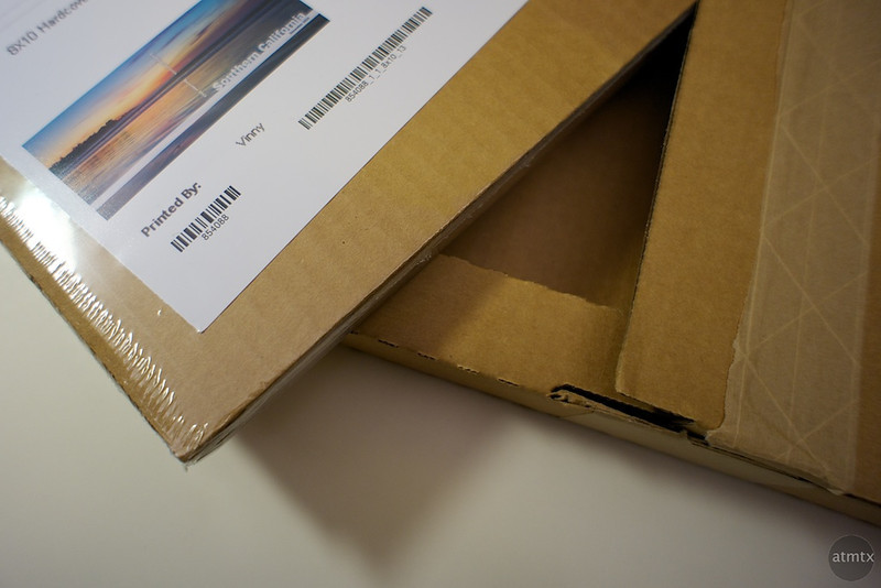 AdoramaPix Photo Book Details - Packaging