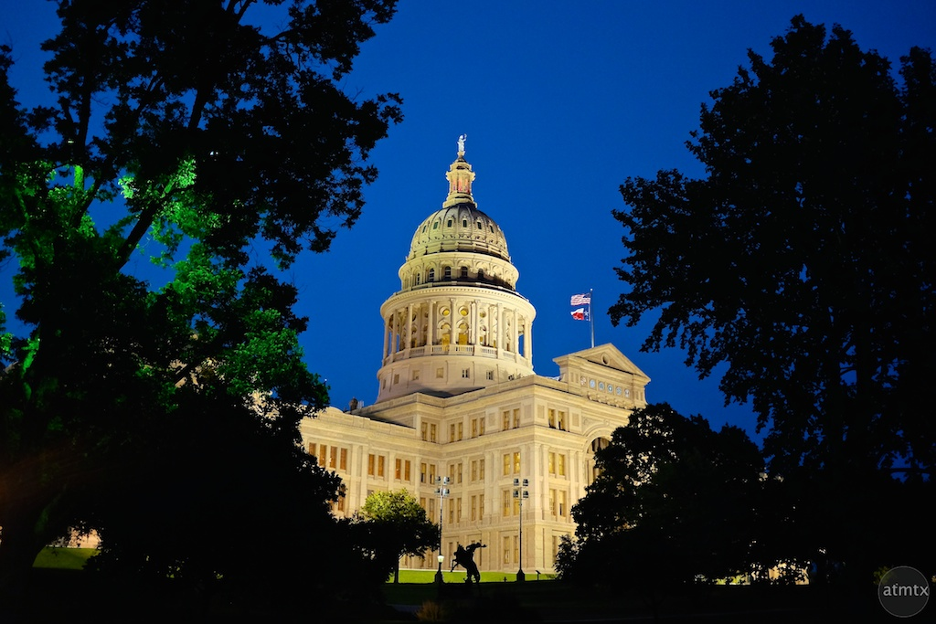 Texas State Capitol at Blue Hour #1 - Austin, Texas
