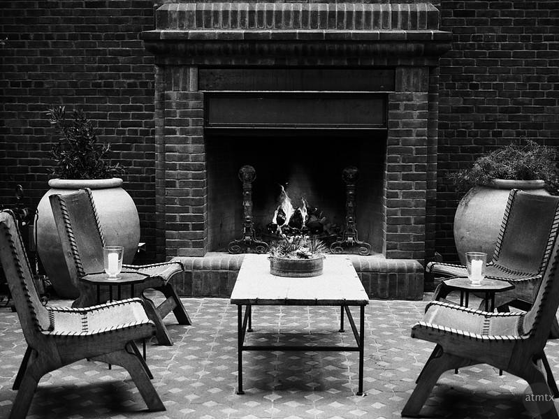 Fireplace, Hotel Emma - San Antonio, Texas
