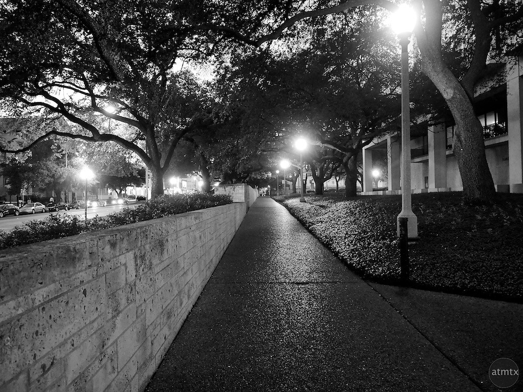 UT at Night, University of Texas - Austin, Texas
