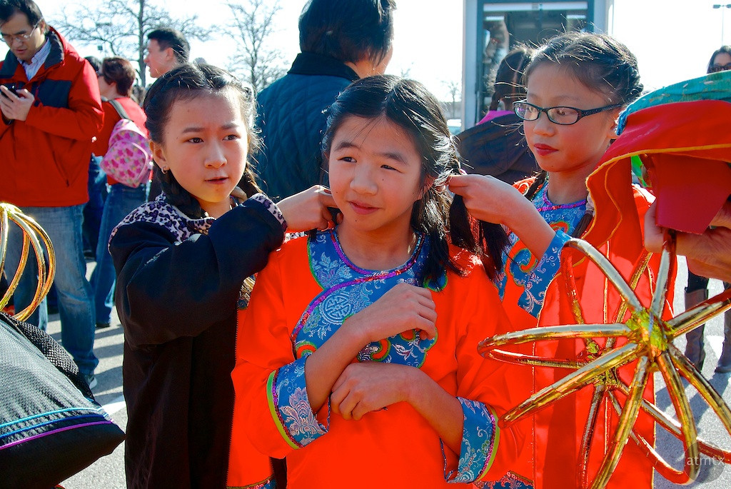 Hair Preparation, 2014 Chinese New Year Celebration - Austin, Texas
