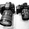 Canon 70D / Olympus E-M1 Size Comparison