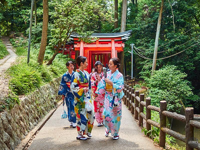 Tourists, Fushimi Inari-taisha - Kyoto, Japan