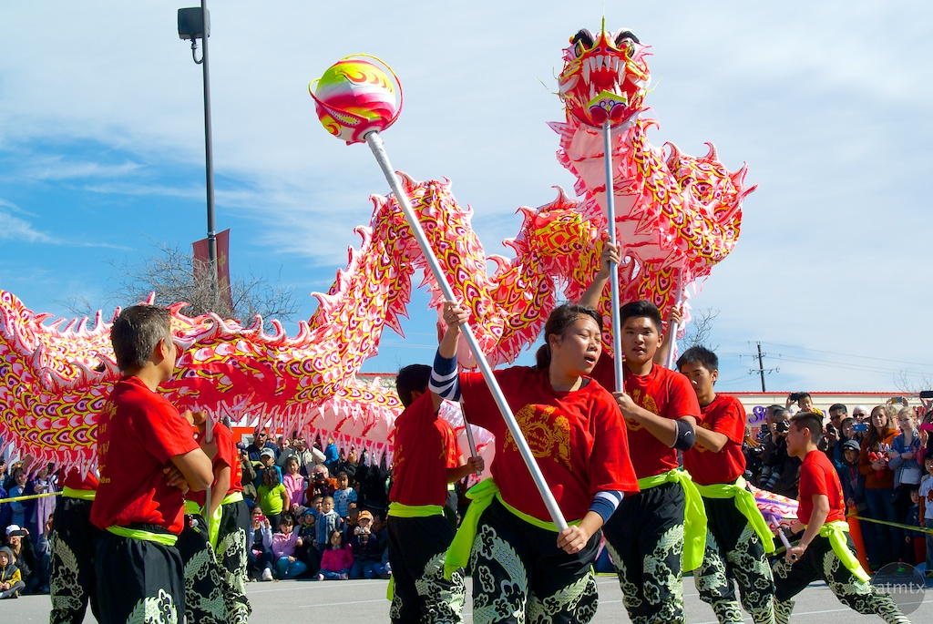Dragon Dance #1, 2014 Chinese New Year Celebration - Austin, Texas