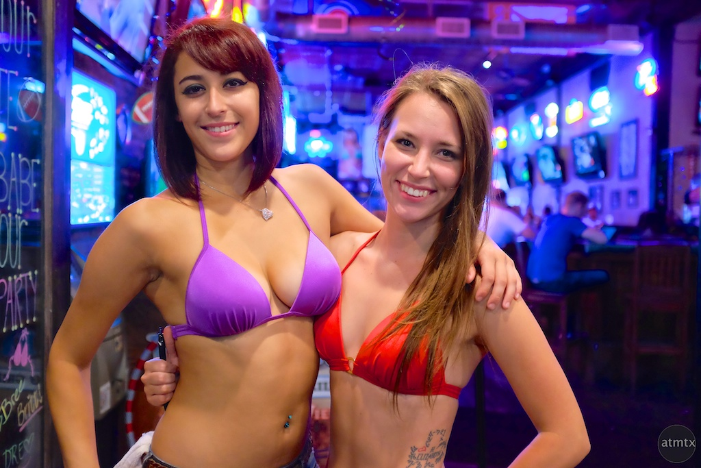 Lacey and Brittany, Bikinis Bar on 6th - Austin, Texas
