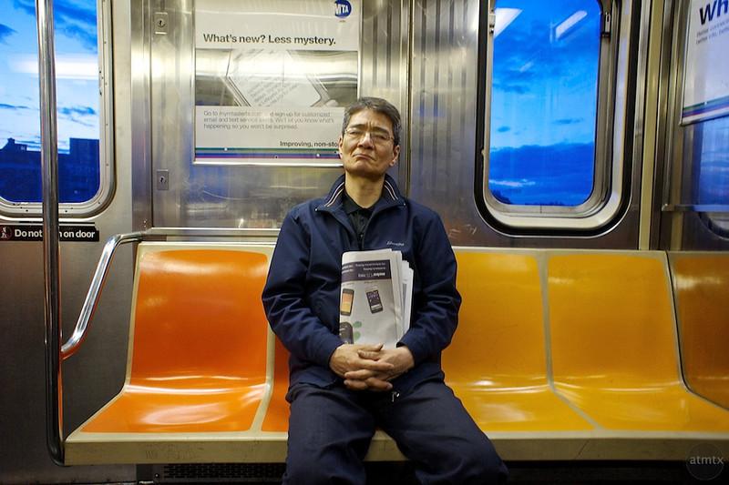 Asleep on the Subway - New York, New York