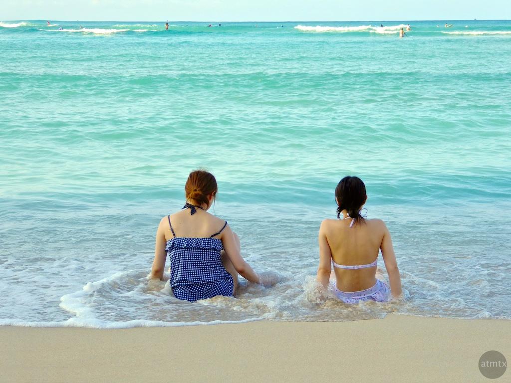 Relaxing, Waikiki Beach - Honolulu, Hawaii