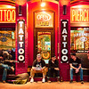 Hanging at the Tattoo Parlor, 6th Street - Austin, Texas
