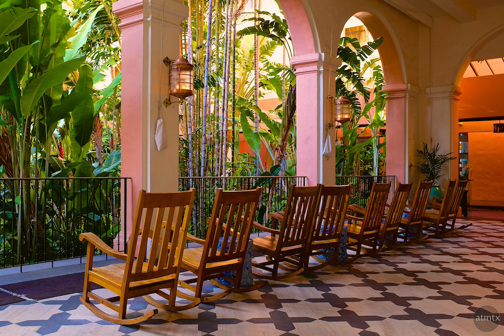 Facing the Jungle, Royal Hawaiian - Honolulu, Hawaii