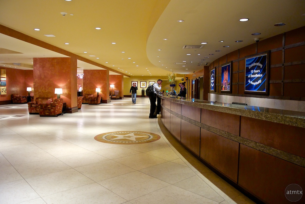 Checking In, Hilton Hotel - Austin, Texas