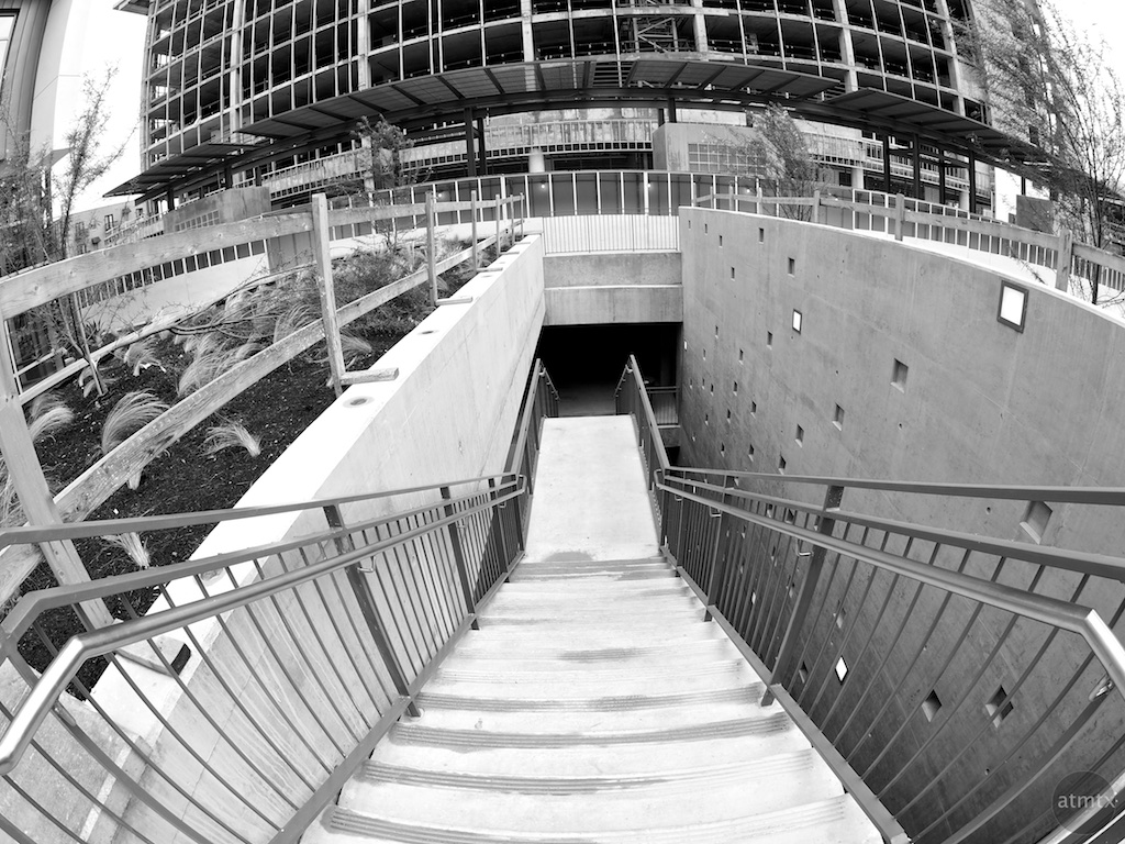 Stairs to the underbelly, Seaholm Development - Austin, Texas