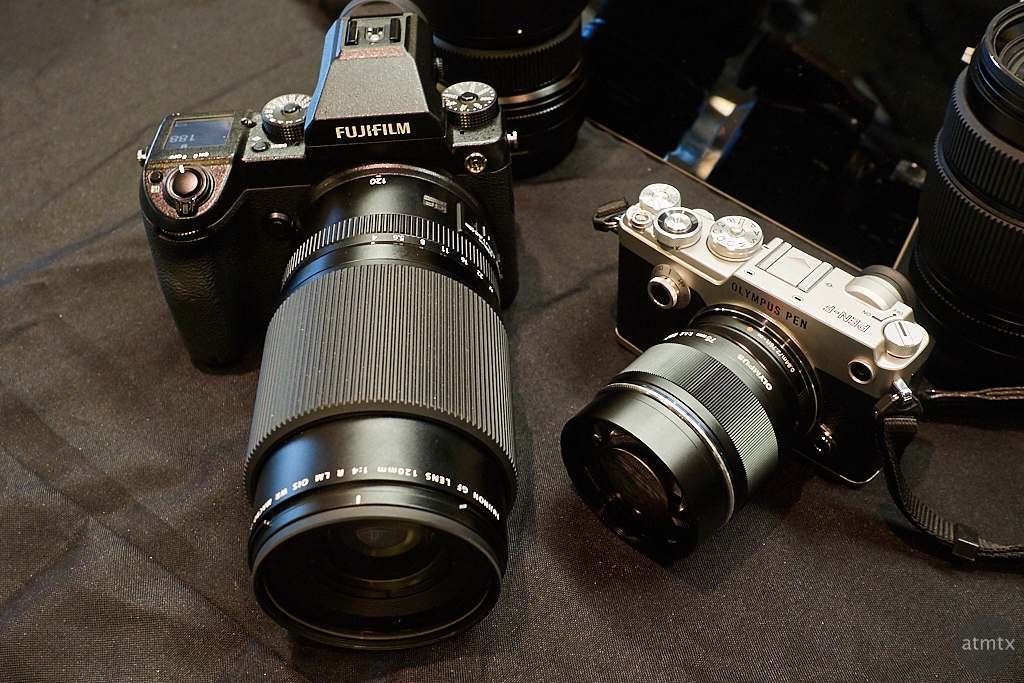 Size Comparison, Fujifilm GFX 50S vs. Olympus PEN-F