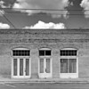 The Simple Brick Building - Liberty Hill, Texas  (black and white)