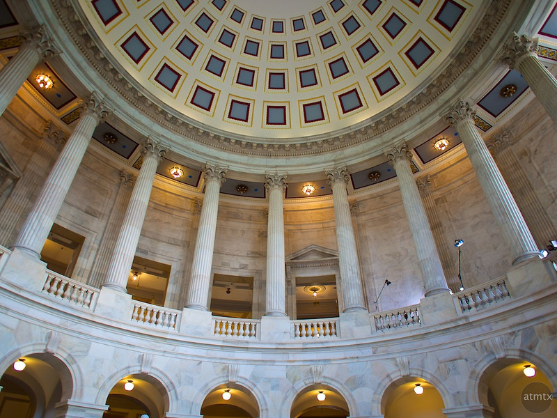 Curves and Pillars, Russell Senate Office Building - Washington DC
