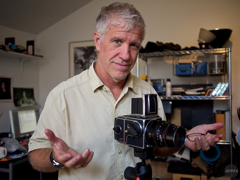 Kirk Tuck with his Hasselblad - Austin, Texas