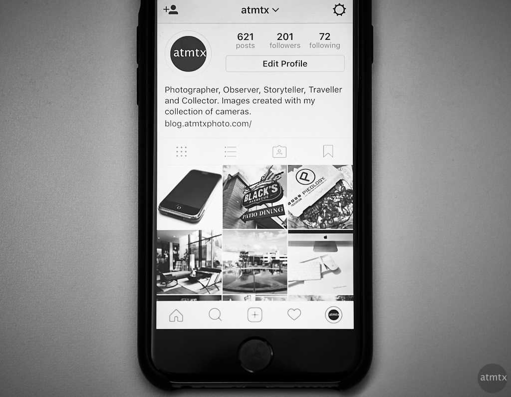 atmtx Instagram on iPhone 6s