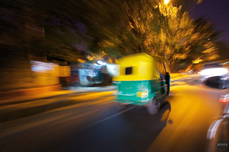 Tuk Tuk Abstract - Delhi, India