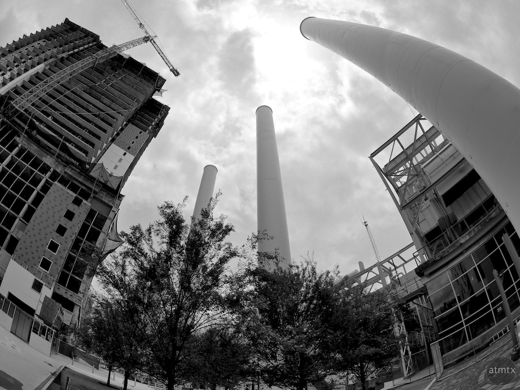 Smoke Stacks #1, Seaholm Development - Austin, Texas
