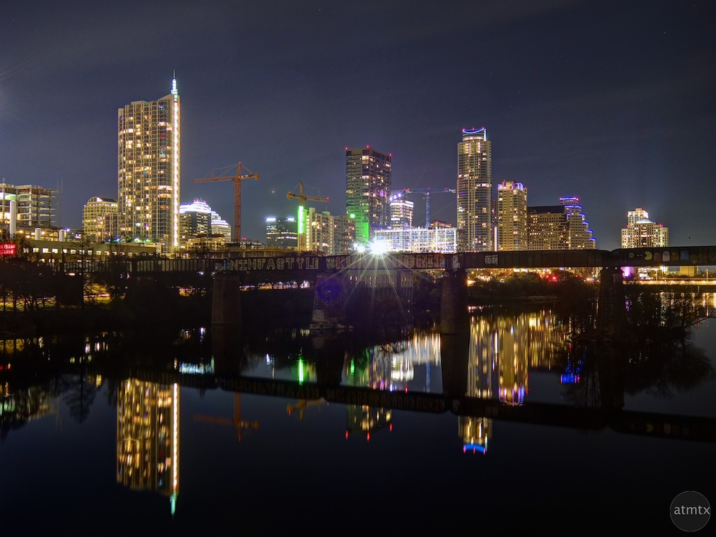Skyline from the Pfluger Pedestrian Bridge - Austin, Texas