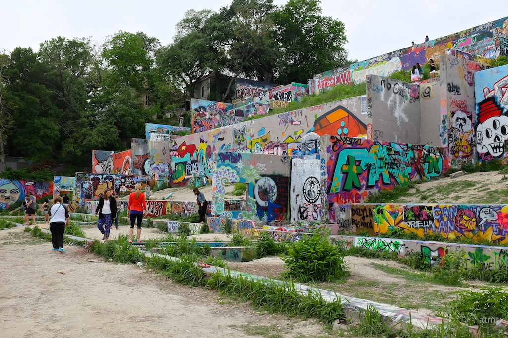 Observations at the graffiti wall - Austin, Texas