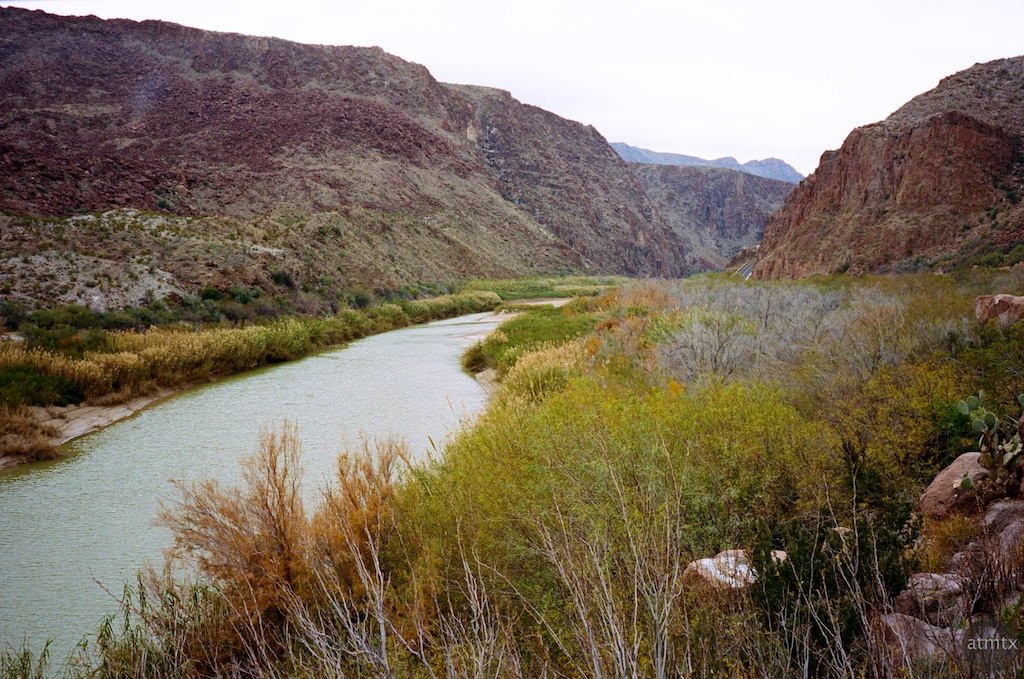 Rio Grande from a rest stop - Big Bend Ranch State Park, Texas