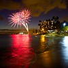 Friday Night Fireworks, Waikiki Beach - Honolulu, Hawaii