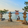 Lanterns at Golden Hour - Miyajima, Japan