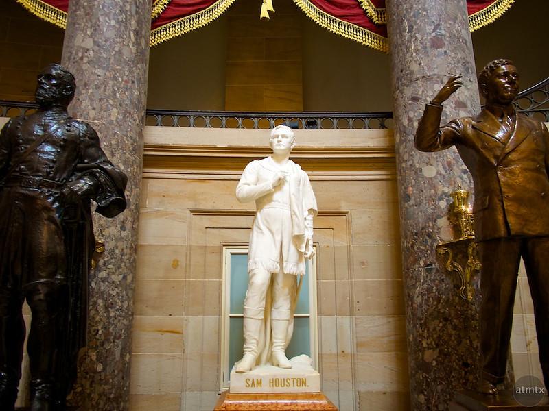 Sam Houston in Statuary Hall, United States Capitol - Washington DC
