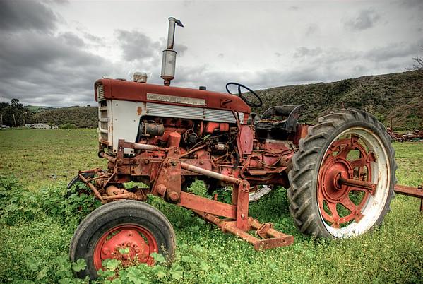 066|Red Tractor [Pescadero, California]