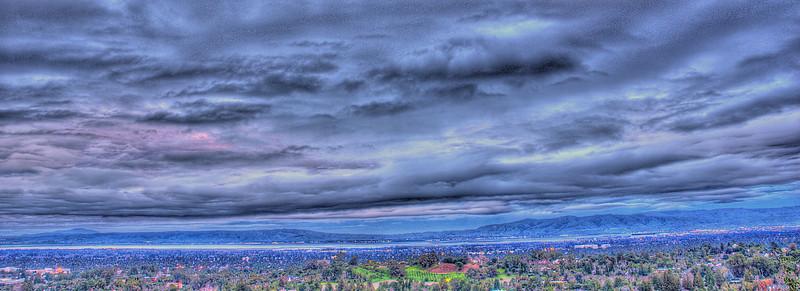 018|Heavy Clouds [South San Francisco Bay shot at dusk]