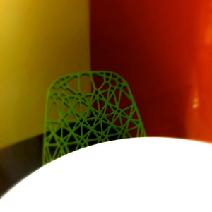 302|The web chair in the corner of the colored room