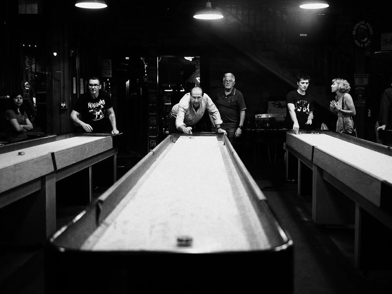 Indoor Shuffleboarders, 6th Street - Austin, Texas