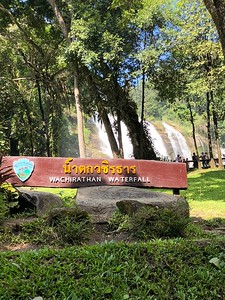 Wachirathan Waterfall Welcome Sign 2