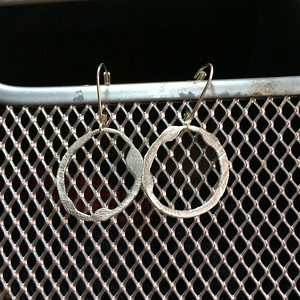 "Sterling silver ""oops"" earrings"