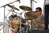 Drummer for Elvis impersonator Rick Saucedo at the 2006 Jeff Fest (Jefferson Park Community Festival) in Chicago, IL.